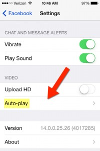 Disable auto play on iphone