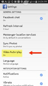 Disable Auto play on your android