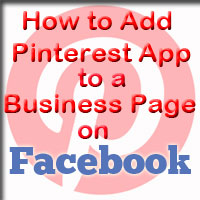 How to add Pinterest App to Business Page on Facebook