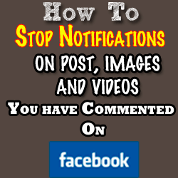 Facebook Notifications – How to stop them once you've commented